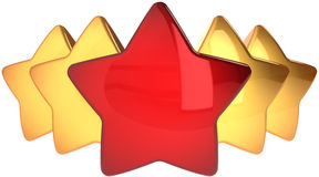 Star shapes leadership concept Stock Photography