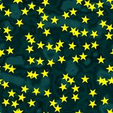 Star shapes with seamless generated background Royalty Free Stock Images