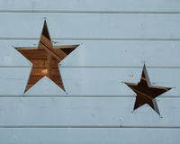 Star Shapes in Wood Stock Images