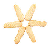 Star share of cookies isolated over the white background Stock Images
