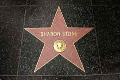 The star of Sharon Stone Stock Photo