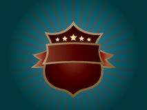 Star shield emblem Royalty Free Stock Photography