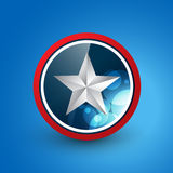 Star shield Royalty Free Stock Images