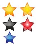 Star-Shine. Colored star brilliantly to design or price tag stock illustration
