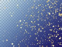 Star shining gold gradient sparkles on transparent background