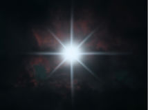 Star shining in night sky Royalty Free Stock Image