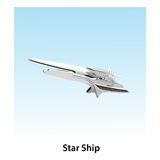 Star ship. Flying in the sky Royalty Free Stock Photos