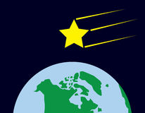 Star Shooting Over Earth Royalty Free Stock Photo