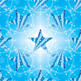 Star side stripe snowflake effect seamless pattern Stock Images