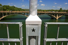 Star sign on bridge in Austin Stock Photography
