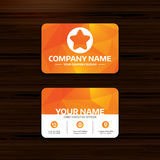 Star sign icon. Favorite button. Navigation. Royalty Free Stock Photography