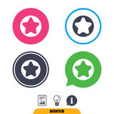 Star sign icon. Favorite button. Navigation. Stock Image