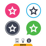 Star sign icon. Favorite button. Navigation. Royalty Free Stock Photos