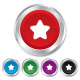 Star sign icon. Favorite button. Navigation Stock Image