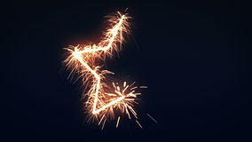 Star Sign Sparkler stock video footage