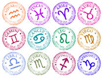 Star sign stamps Stock Image