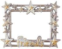 Star silver frame Stock Photos