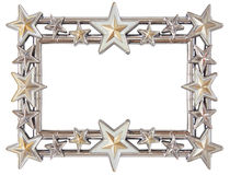 Star silver frame Royalty Free Stock Photos