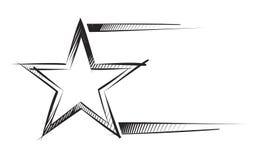 Star on sketch vector illustration