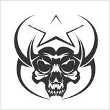 Star with skull - abstract vector element Royalty Free Stock Image