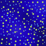 Star Sky Background. Star Blue Sky Background. Yellow Blue Starry Texture Royalty Free Stock Photography