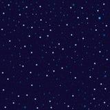 Star sky on dark background seamless pattern Stock Photo