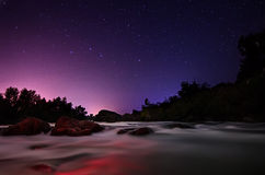Star sky with river Royalty Free Stock Images