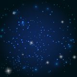 Star Sky Vector Illustration Background Stock Photos