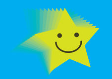 Star smiley - vector Stock Image