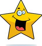 Star Smiling. A cartoon gold star smiling Royalty Free Stock Images