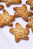 Star snacks. Star shape freshly baked snacks Stock Photography