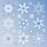 Star and Snowflake icon set Royalty Free Stock Images