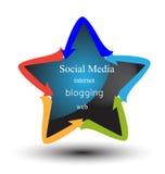Star with social media concepts Stock Photos