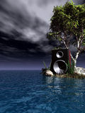 Star sound. Loudspeaker at the ocean - 3d illustration Stock Photography