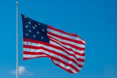 The Star Spangled Banner Flag. The 15 star flag known as The Star Spangled Banner Flag, that flies over Federal Hill. Skyline of Baltimore Stock Image