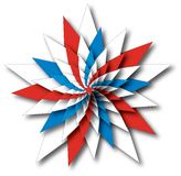 Star Spangled Wheel. Patriotic star illustration in USA flag colors vector illustration
