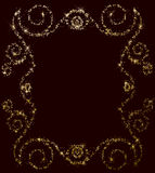 Star and spangles frame background Royalty Free Stock Photo