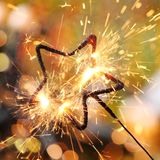 Star sparkler Royalty Free Stock Photography