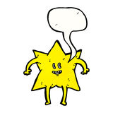 star with speech bubble cartoon Stock Image