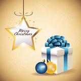 Star sphere gift merry christmas icon. Vector graphic Stock Photo