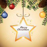 Star sphere merry christmas icon. Vector graphic Royalty Free Stock Photography