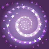 The Star Spiral. Space Background. The Universe, The Galaxy Royalty Free Stock Photos