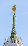 Star on the spire of skyscrape Royalty Free Stock Photo