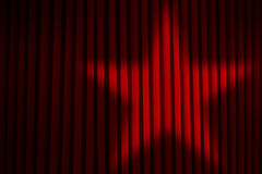 Star Spotlight Curtains Royalty Free Stock Images