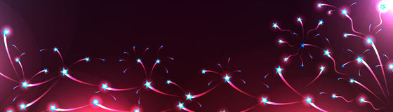 Star spread line banner bright Stock Photography