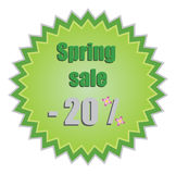 Star for spring discount prices. Vector illustrati Royalty Free Stock Photo