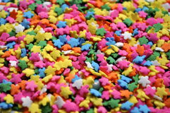 Star Sprinkles. This is a photo of colorful star sprinkles that would be on a cupcake, cake, or ice cream Stock Photography