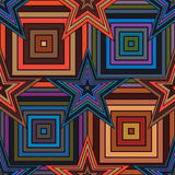 Star square line seamless pattern Royalty Free Stock Photo
