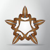 Star from St. George ribbons. Symbol of russian victory. May 9. Vector illustration. Star from St. George ribbons. Symbol of russian victory. May 9. Vector Royalty Free Stock Image