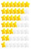 Star, star a avaliação para usar-se como ilustram qualidade, avaliação, recompensa Imagens de Stock